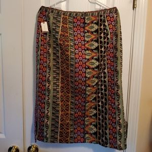 Anthropologie - Embroidered skirt - size 14